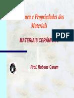 Estrutura e Propriedades de Materiais - Cerâmicos