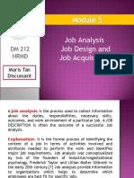 Job Analysis Job Design and Job Acquisition Ppt 2