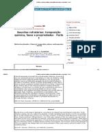 Cerâmica - Bauxitas Refratárias_ Composição Química, Fases e Propriedades - Parte I