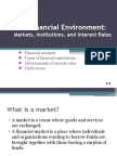 The Financial Markets, Institutions, And Interest Rates With Yield Curves