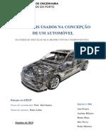 MATERIAIS USADOS NA CONCEPÇÃO DE UM AUTOMÓVELUsados Na Concepção de Um Automóvel