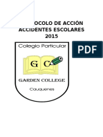 Protocolo de Accidentes Escolares 2015