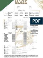 Mage the Awakening Thyrsus Character Sheet - GMC