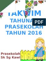 Takwim Prasekolah 2016 (1)