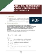 determinacion del coeficiente molecular en fase gaseosa fenomenos