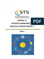 Worksheets Booklet Phys G10