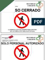 Precaucion Acceso Cerrado