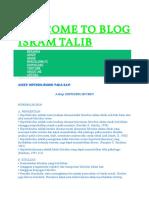 Welcome to Blog Isram Talib