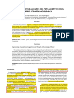 Agroecología, Pensamiento Social Agrario y Teoría Sociológica