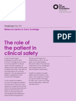 The role of the patient in clinical safety thought paper.pdf