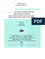 STATUS AND POTENTIALS OF VILLAGE AGRO-PROCESSING UNITS / INDUSTRIES