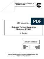 ATC Manual for a Reduced Vertical Separation Minimum (RVSM) in Europe
