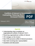 120209 Conflicts of Interest in Government Contracting