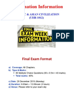 Final Exam Format Sem 1 2015 28 December 9am