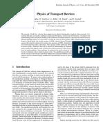 Physics of Transport Barriers - Tendler, VanOost, Krlin - 2004