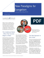 Exploring New Paradigms for Effective Evangelism