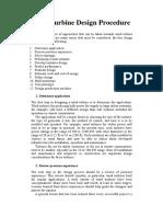 Wind Turbine Design Procedure