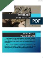 Subgrade Evaluation