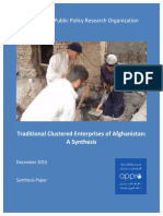 2015 12 26 - Traditional Clustered Enterprises of Afghanistan - A Synthesis