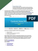 Sosyal Medya Hesaplarınızı Kolayca Silin
