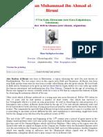 Al Biruni Biography