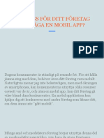 Är Det Dags För Ditt Företag Att Överväga en Mobil App
