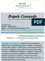 08033512375- Brigade Cosmopolis  -Whitefield, Bangalore- Price, Review, Floor Plan, Specification, User Opinion
