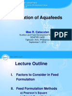 Use of Fishery Resources as Feed Inputs to Aquaculture