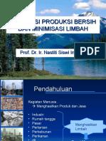 1. Konsepsi Produksi Bersih Dan Minimisasi Limbah