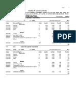 Analisis de Precios Agua