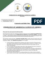 FANA Public Notice