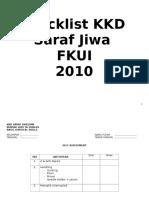 Checklist Kkd Saraf Jiwa Lengkap