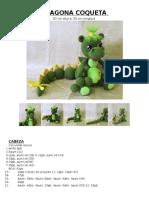 Dragona Verde Coqueta Amigurumis