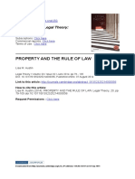Property and the Rule of Law