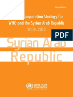 Country Cooperation Strategy for WHO and Syria 2008-2013