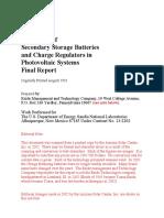 Handbook of Secondary Storage Batteries