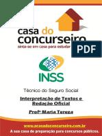 Apostila Inss 2015 Interpretacaodetextoeredacaooficial Mariatereza