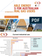 Renewable Energy Options for Australian Industrial Gas Users