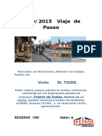 El Tigre Viaje 2015