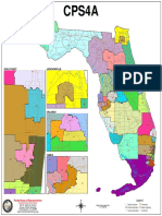 Florida state Senate districts map - CPS4a