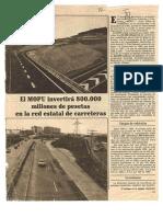El MOPU invertirá 800.000 millones de pesetas en la red estatal de carreteras