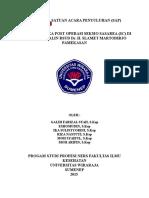 Sap Perawatan Luka Post Operasi Sc