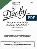 1927-01 - Derby Verzeichnis Bis Januar 1927