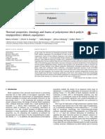 Thermal Properties, Rheology and Foams of Polystyrene