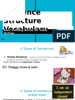 teacher copy of sentence structure vocabulary