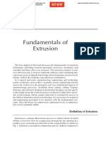 Fundamentals of Extrusion