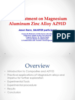 Heat Treatment on Magnesium Aluminum Zinc Alloy AZ91D