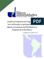 Programas Rede Macro - Set 2013