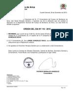 ORD-DÍA 119-2015 RENUNCIA 3ER COMANDANTE