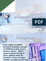 Bioseguridad  y Salud del Personal de Laboratorio